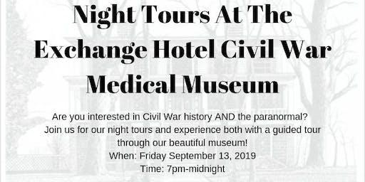 Night Tours at The Exchange Hotel Civil War Medical Museum