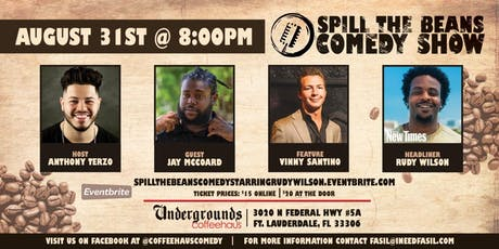 Spill the Beans Stand Up Comedy Show- Rudy Wilson (2019 Miami New Times Comedian of the Year) tickets