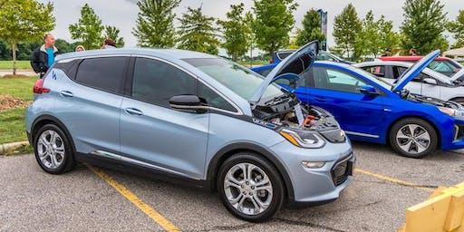 Electric Vehicle Display at Sarnia United Way Car Show