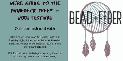 B+F is going to the Rhinebeck Sheep and Wool Festival!
