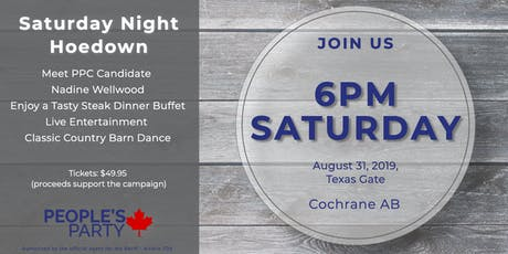 Saturday Night Hoedown - PPC Banff Airdrie, Nadine Wellwood Fundraiser tickets