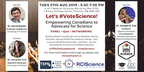 Let's #VoteScience: Empowering Canadians to advocate for science tickets