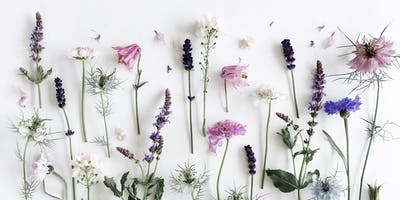 Floral flat lay photography workshop