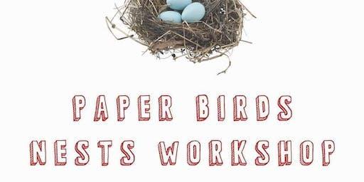 Paper Bird's Nests Workshop