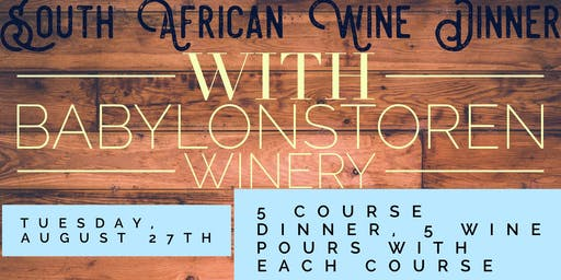 South African Wine Dinner
