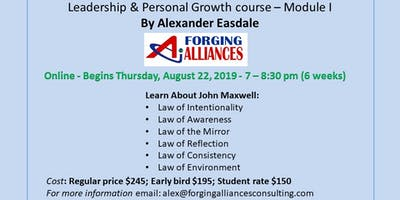 Leadership & Personal Growth Course John Maxwell philosophy I