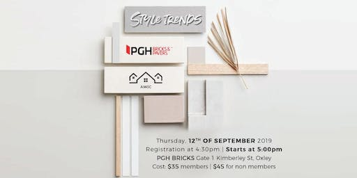 Style Trends - Presented by PGH Bricks