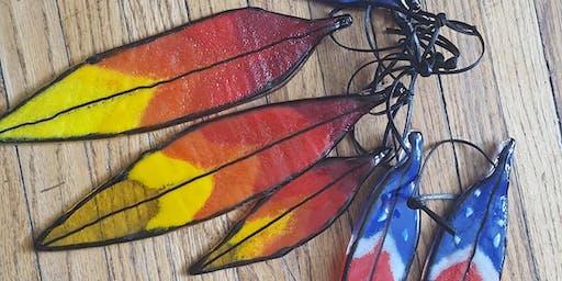 Sun Catcher Feathers w/ Prairie Light Art Glass