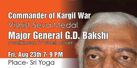 Meet & Greet Maj Gen (Retd.) GD Bakshiji tickets