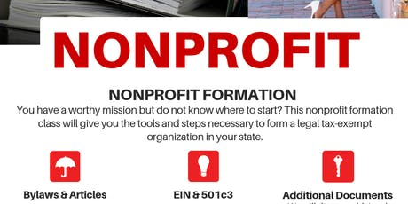 NONPROFIT FORMATION INFORMATION SESSION tickets