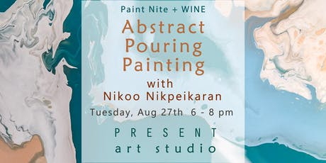Paint Nite + Wine: Explore Abstract Pouring Painting Techniques tickets