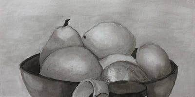 Black n' White Drawing with Ink Wash 6 sessions w/artist Geraldine Butler