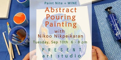 Paint Nite + Wine: Explore Abstract Pouring Painting Techniques