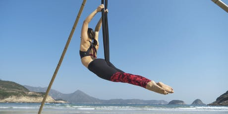Beach Aerial Yoga Workshop - int/advanced (September) tickets