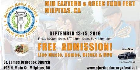 Milpitas' Mid Eastern & Greek Food Festival tickets