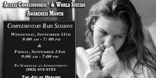 ACCESS BARS® FREE CLINIC World Suicide Awareness Month in Lakewood, CA