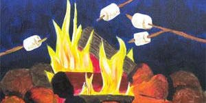 """CANVAS CLASS: """"Toasty Campfire"""" Adult Paint & Sip"""
