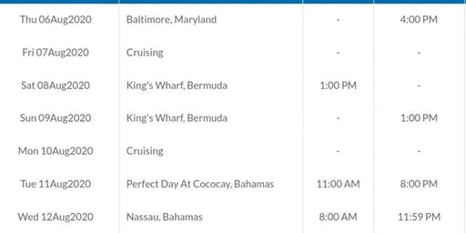 Cruise From Baltimore 9 nights!