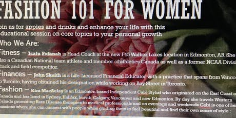 Fashion, Finance and Fitness for Women tickets