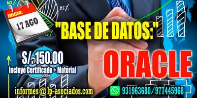 Administración de Base de datos con ORACLE