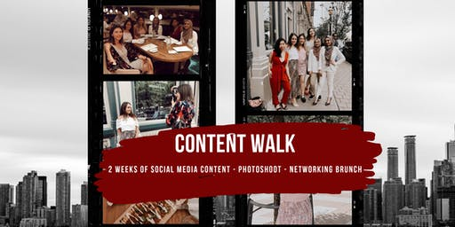 Content Walk Personal Brand Photoshoot & Networking Brunch for Female Entrepreneurs