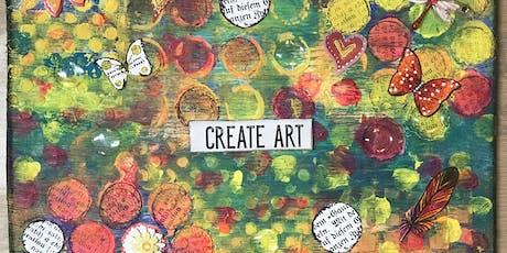 Meditate + Create {Mixed Media Art} Workshop tickets