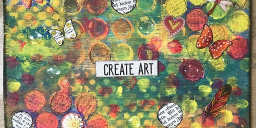 Meditate + Create {Mixed Media Art} Workshop