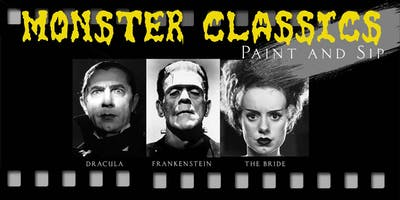 Classic Film Monsters - Paint and Sip
