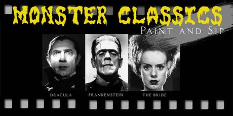 Classic Film Monsters - Paint and Sip tickets