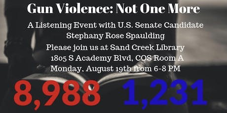 "Gun Violence: ""Not One More"" tickets"