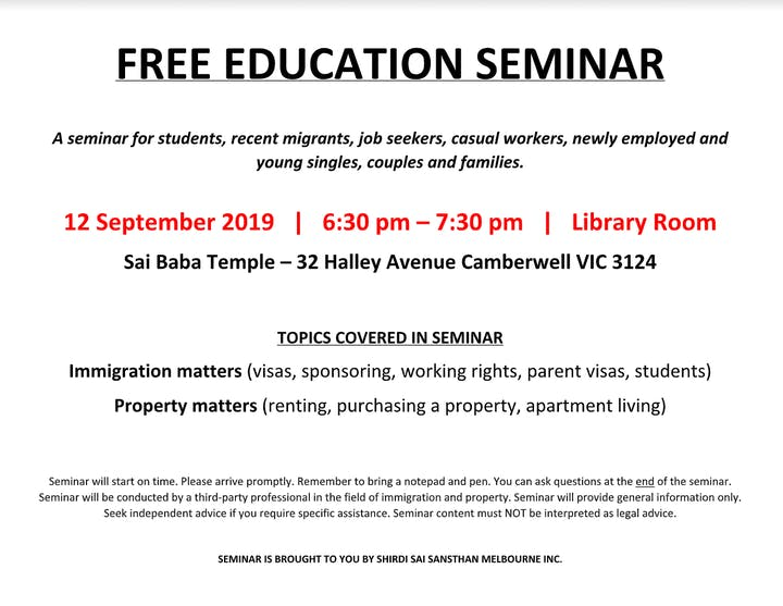 Free Education Seminar Tickets, Thu, Sep 12, 2019 at 6:30 PM