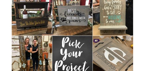 Pick Your Project Workshop BYOB tickets