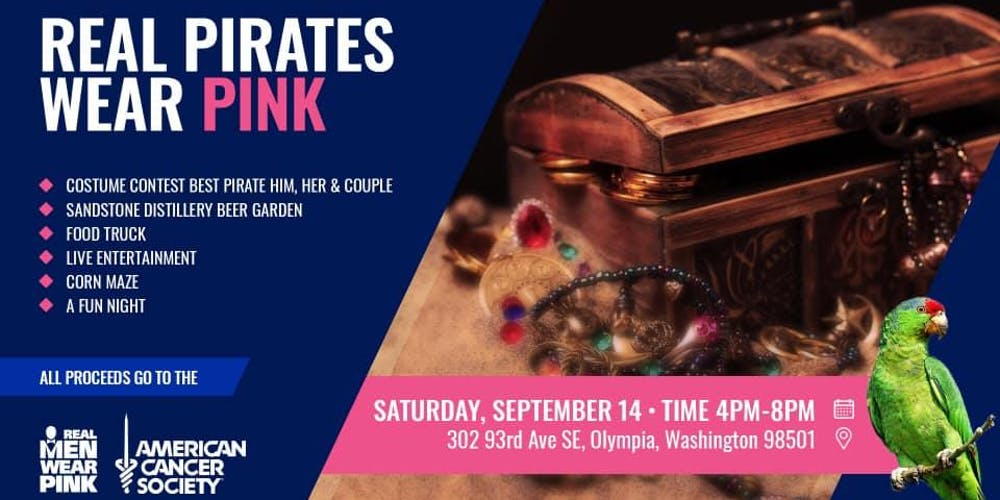 Real Pirates Wear Pink Tickets, Sat, Sep 14, 2019 at 5:00 PM