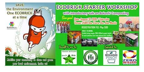 Ecobricks Starter Workshop and Intro to Bokashi Composting (SWM RA 9003) tickets