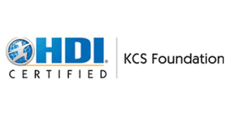 HDI KCS Foundation 3 Days Training in San Jose, CA tickets
