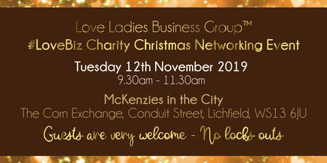 Lichfield #LoveBiz Christmas Coffee Catch Up Networking Event tickets