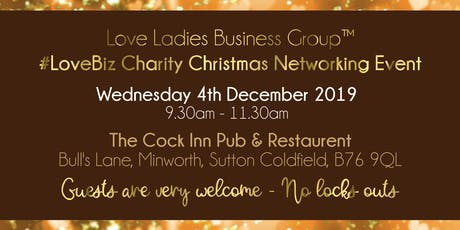 Sutton Coldfield and Tamworth #LoveBiz Christmas Coffee Catch Up Networking Event tickets
