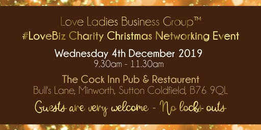 Sutton Coldfield and Tamworth #LoveBiz Christmas Coffee Catch Up Networking Event