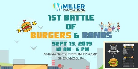 1st Battle of Burgers and Bands tickets