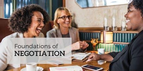 Foundations of Negotiation tickets
