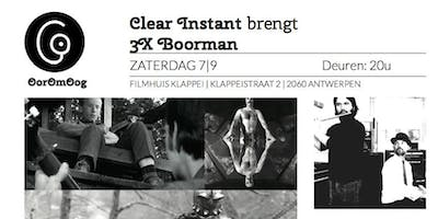 Clear Instant speelt 3x Boorman