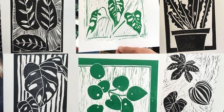 Drawing, Lino cutting and printing of botanicals- Framable art! tickets