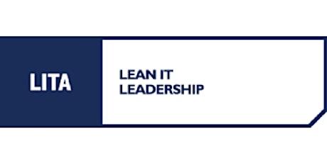 LITA Lean IT Leadership 3 Days Training in San Diego, CA billets