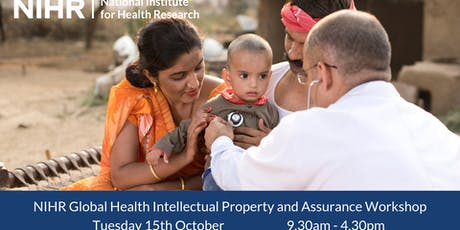 NIHR Global Health Intellectual Property and Assurance Workshop tickets