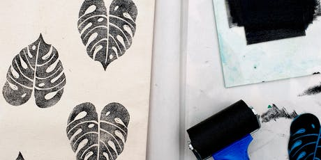 Lino cutting and printing onto your very own tote bag! tickets