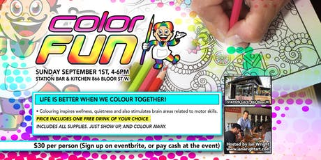 COLOR FUN - COLOURING FOR ADULTS, Station Bar & Kitchen, Sept 1 2019 tickets