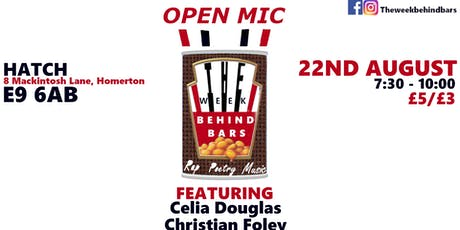 Week Behind Bars ~ Live at Hatch #1 (Poetry, Rap & Music, Open Mic) tickets