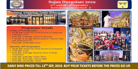 Durga Puja 2019, Dublin, Ireland tickets