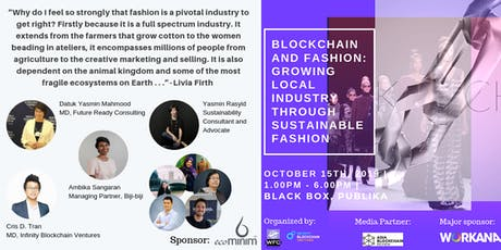 Blockchain and  Fashion: Growing Local Industry Through Sustainable Fashion tickets