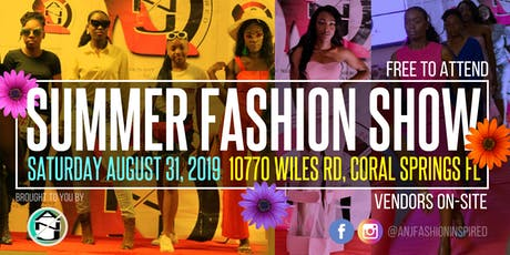 ANJ Fashion Inspired Presents: Summer Fashion Show 2019 - Coral Springs FL tickets